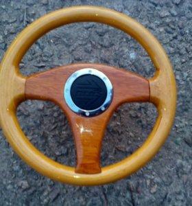 Руль деревянный на ВАЗ 08-09