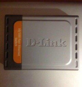 Роутер Switch internet D-Link de-10005D