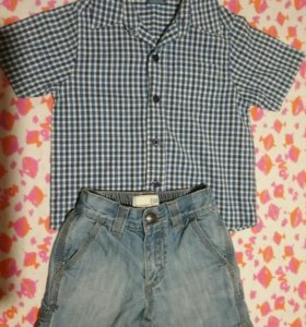 Вещи на мальчика( рубашка+шорты)