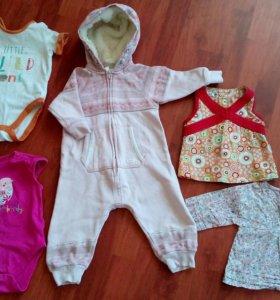 Комплект одежды для девочки р.74-80