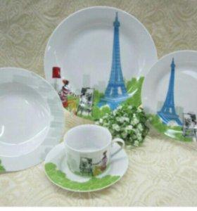 Бокалы, чашки, тарелки и пр., в ассортименте