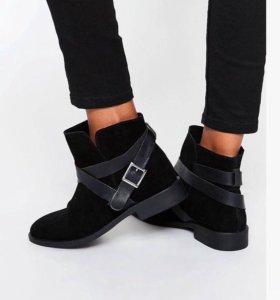 Замшевые полусапожки (ботинки) демисезонные