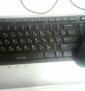 Офисная клавиатура и мышь