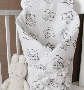 """Конверт-одеяло на выписку """" мишутка"""""""