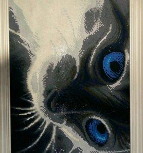 """Алмазная мозайка """"кошачий взгляд"""""""