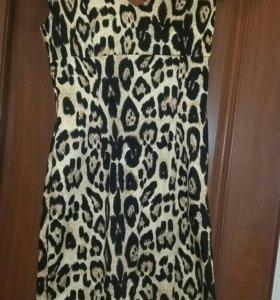 Платье с принтом для выпускного Calvin Klein