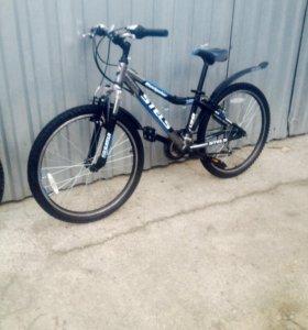 Велосипед горный 24 широкие покрышки почти новый