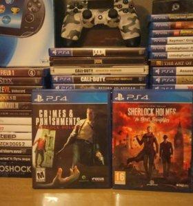 Диск Playstation 4 Коллекция Sherlock Holmes ps4