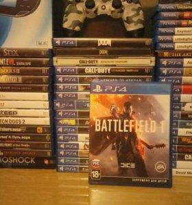 Диск Playstation 4 Battlefield 1 ps4 игра
