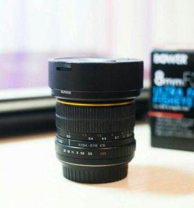 Объектив Fisheye 8 mm. F 3.5