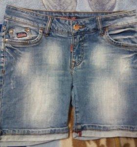 Джинсовые шорты и юбка