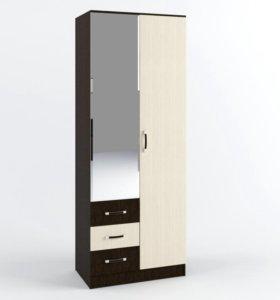 Шкаф Ронда 0.8 (2-х ств) с ящиками ШКР800