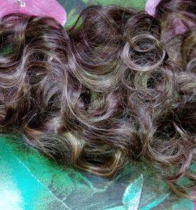 Трессы волосы на заколках