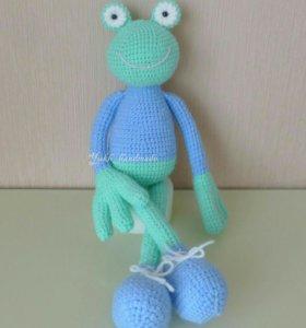 """Мягкая игрушка """"Лягушка в свитере"""". Ручная работа"""