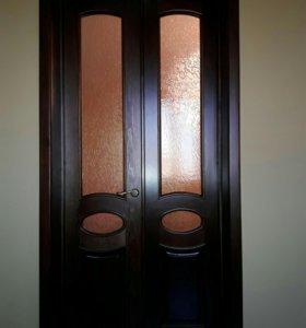 Установка дверей доборов капителей