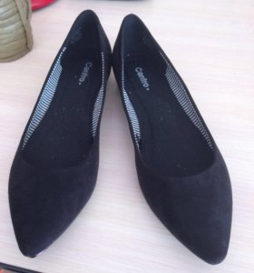 Туфли 40 размер ( имитация замши)