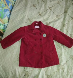 Куртка-пальто вельветовое
