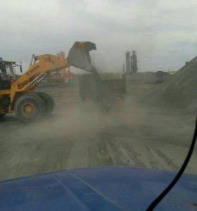 Доставка песок, щебень, чернозем.