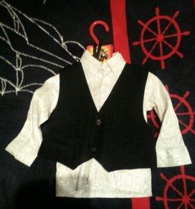 Костюм тройка (брюки, рубашка, галстук, жилетка)