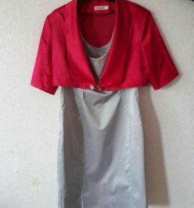 Комплект , платье+болеро