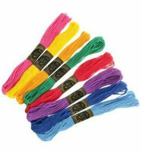 "Набор ниток мулине ""Радуга"", 8шт, 8±1м, разноцветн"