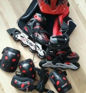 Ролики 26-31р комплект/защита, шлем/