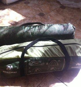 Палатка двухместная и коврик