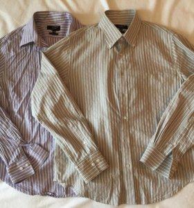 Мужские рубашки 2 штуки (рост 173)
