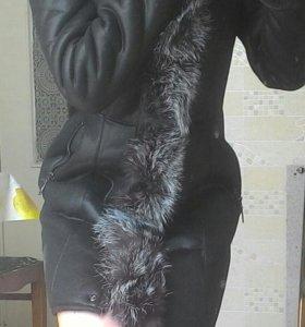Зимняя дубленка(новая)