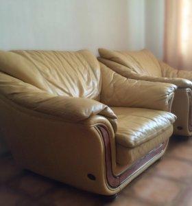 Итальянская мягкая кожаная мебель Nieri