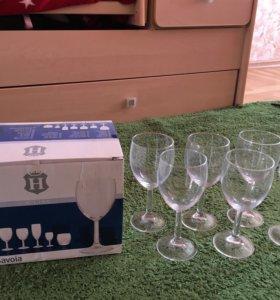 Бокалы для вина новые