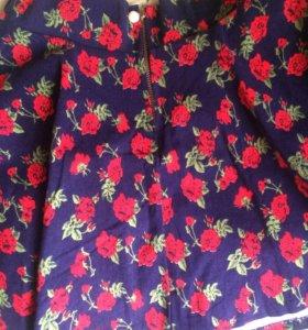 Юбка в красный цветок, 44-46