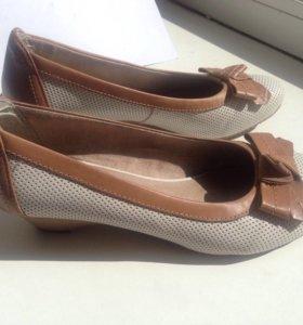 Туфли кожаные Tamaris 36р