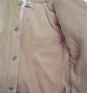 Велюровая курточка на синтепоне