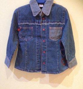 Джинсовая рубашка 4-5 лет