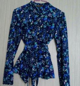 Блузка с баской,размер 42