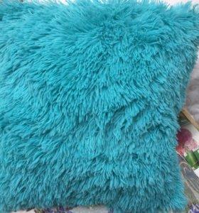 Плюшевая наволочка и подушка