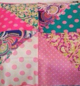 Новый платок шелк натуральный 90/90 см
