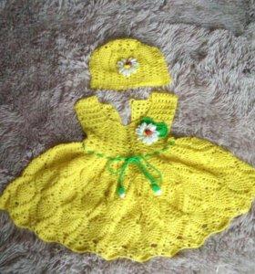 Платье с шапочкой