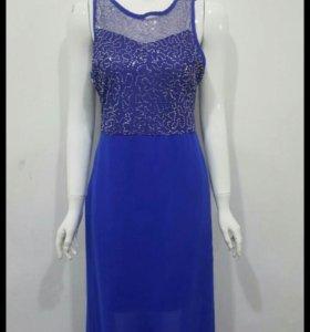 Новое шифоновое платье с пайетками