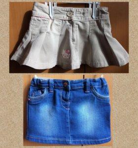 Юбка джинсовая. р.74-80