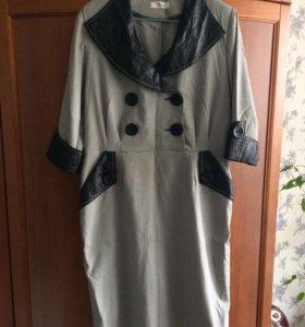Платье блузка 48р
