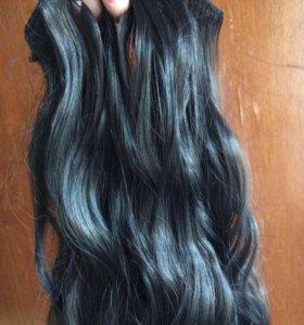 Волосы на заколках (кудрявые)