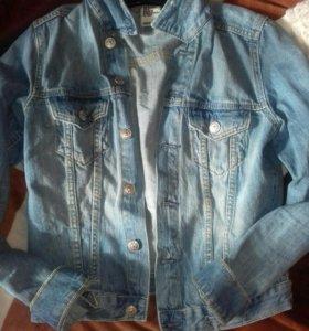 Детская джинсовая курточка!на 7-8лет