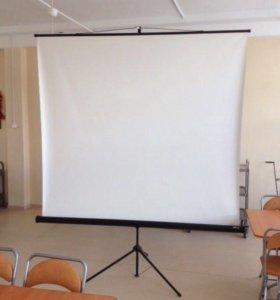 Проектор,экран,видеомагнитофон под флэшку