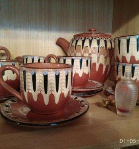 Глиняный чайный набор