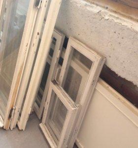 Деревянные окна. Оконные створки.