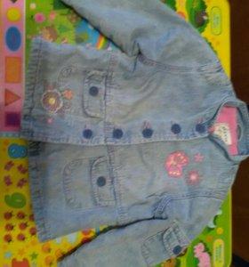 Джинсовая куртка на 2-3года