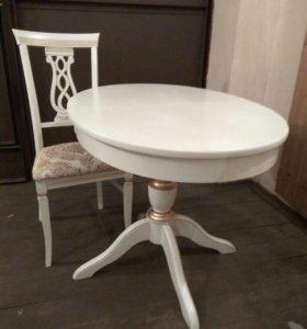 Овальный стол 106(+35)*75