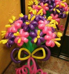 букет ромашек. оформление шарами